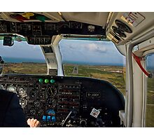 Short Final - Alderney Photographic Print