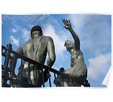 "Sculpture named ""people like us"", in Cardiff Bay Poster"