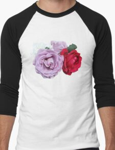 Bouquet of Garden Roses - Hipster/Pretty/Trendy Flowers Men's Baseball ¾ T-Shirt