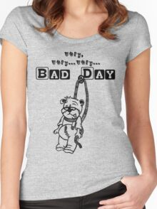 bad day Women's Fitted Scoop T-Shirt
