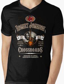 Robert Johnson Devil Driven Delta Blues  Mens V-Neck T-Shirt