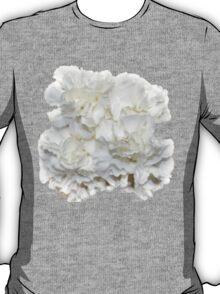 Bouquet of White Carnations Flowers T-Shirt