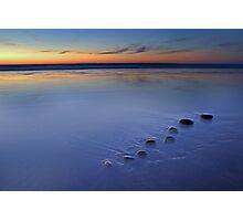 Blue Pebbles Photographic Print