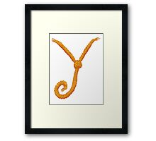 Why not (Y knot) Framed Print