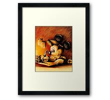Disney - Mickey Mouse Writing Framed Print