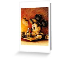 Disney - Mickey Mouse Writing Greeting Card