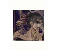 Who's the fairest of them all? skull mirror digital painting Art Print