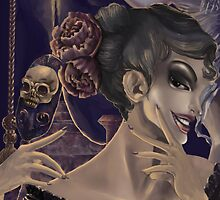 Who's the fairest of them all? skull mirror digital painting by BlackGlaze