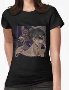Who's the fairest of them all? skull mirror digital painting Womens Fitted T-Shirt