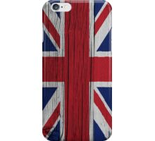"Union Jack ""painted on wood"" flag iPhone Case/Skin"