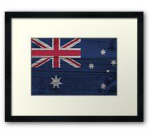 """Australia """"painted on wood"""" flag Framed Print"""