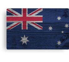 """Australia """"painted on wood"""" flag Canvas Print"""