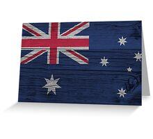 """Australia """"painted on wood"""" flag Greeting Card"""