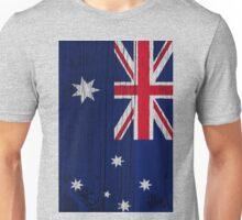 """Australia """"painted on wood"""" flag Unisex T-Shirt"""