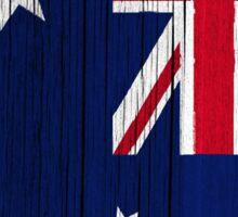 """Australia """"painted on wood"""" flag Sticker"""