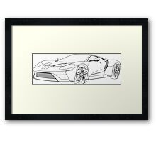 2016 Ford GT, Forza 6 Motorsport Game Cover Car, Black no Fill Framed Print