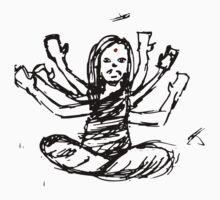 Hindu Jesus Scribble Doodle by lindseybro