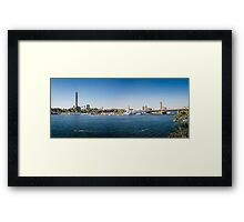 Nile Riverfront at Cairo, Egypt Panorama Framed Print