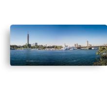 Nile Riverfront at Cairo, Egypt Panorama Canvas Print