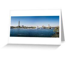 Nile Riverfront at Cairo, Egypt Panorama Greeting Card