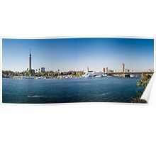 Nile Riverfront at Cairo, Egypt Panorama Poster