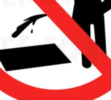 Don't Pee Sticker