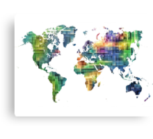 Map of the world geometric Canvas Print