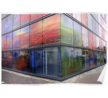 Decorated Glass Walls Poster