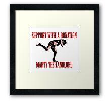 Marty the landlord Framed Print
