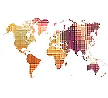Map of the world pastel cube Photographic Print