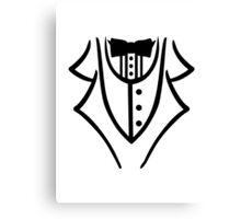 Black tuxedo Canvas Print