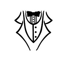 Black tuxedo Photographic Print