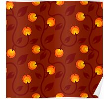 pattern with berry Poster