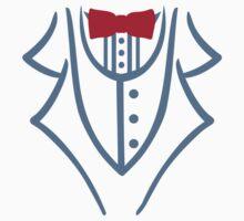 Tuxedo bow tie One Piece - Short Sleeve