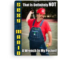 SexyMario MEME - That Is Definitely Not A Wrench In My Pocket 1 Canvas Print