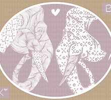 Elephant love pink by bexchalloner