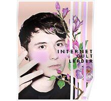 Dan Howell Pastel Peach Floral Print Poster