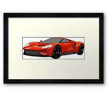 2016 Ford GT, Forza 6 Motorsport Game Cover Car, Black with Red colour Fill Framed Print