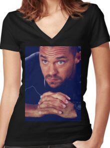 Avery Women's Fitted V-Neck T-Shirt