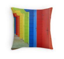 Rainbow Chalet Throw Pillow