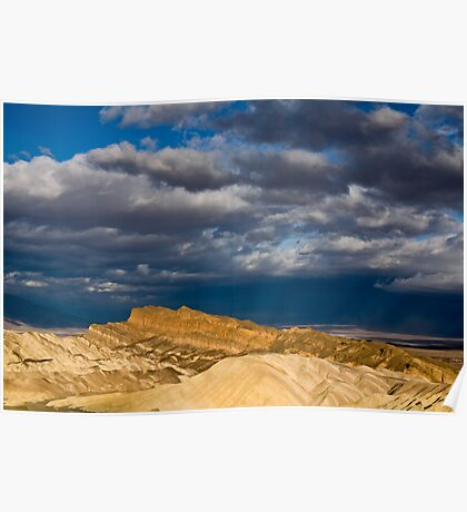 Sunlight over Death Valley Poster