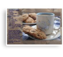 Grandma's Coffee Cookies (recipe) w/ white border Metal Print