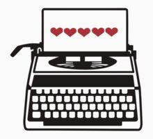 Typewriter hearts love by Designzz