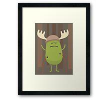 Dumb Ways To Die (Dress up like a moose during hunting season) Framed Print
