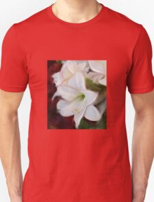ABSTRACT WHITE AMARYLLIS Unisex T-Shirt