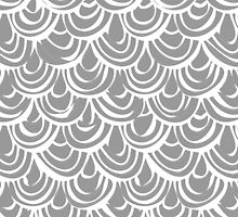 monochrome scallop scales by Sharon Turner