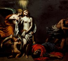 Alessandro Turchi (called Orbetto) - Saint Agnes Protected by an Angel by Adam Asar