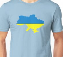 Ukraine map flag Unisex T-Shirt