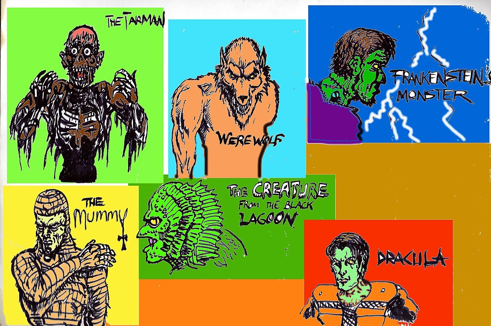 marvelous movie monsters by mattycarpets