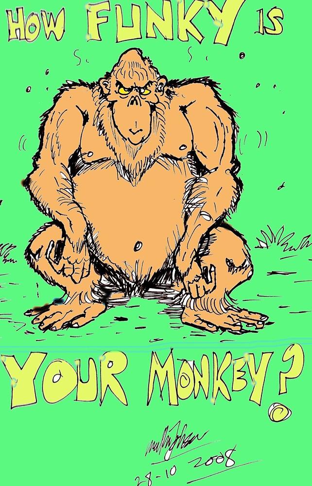 funky monkey by mattycarpets